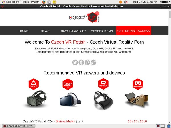 Free Accounts In Czech VR Fetish