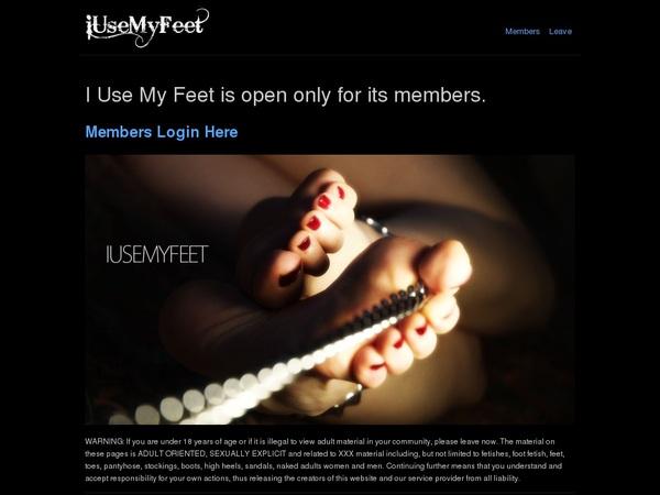Password I Use My Feet
