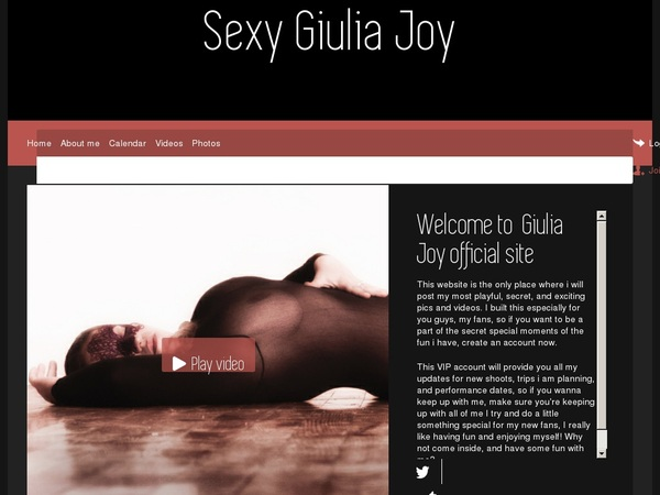 Sexy Giulia Joy Password Login
