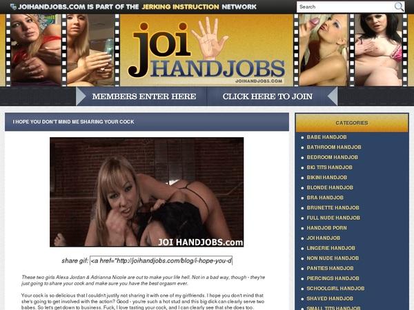 JOI Handjobs Premium Logins