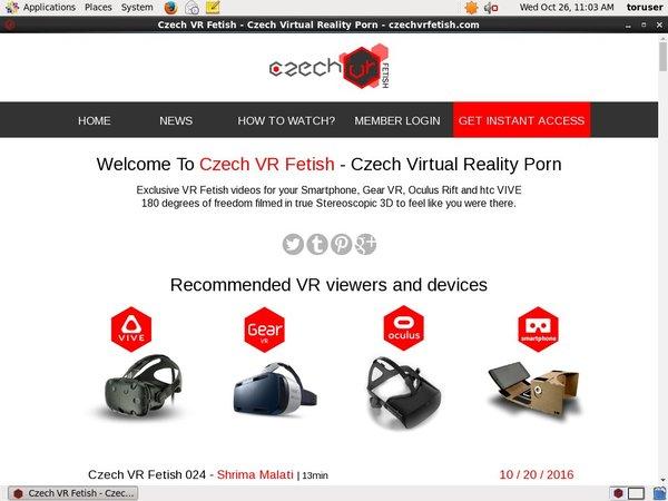 Czech VR Fetish Accounts
