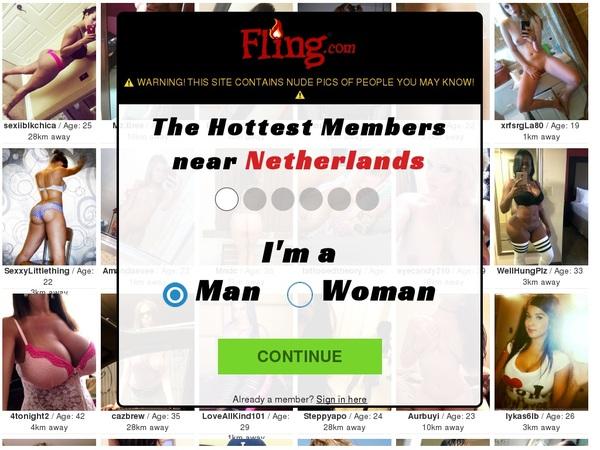 Fling.com Checkout Form