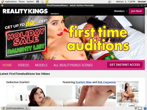 Watch First Time Auditions